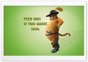 Feed Me If You Dare, Puss in Boots, Shrek Forever After HD Wide Wallpaper for Widescreen