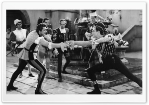 Fencing Duel   Old Movie HD Wide Wallpaper for Widescreen