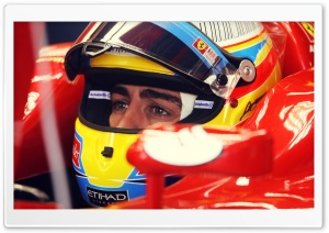 Fernando Alonso Ferrari HD Wide Wallpaper for Widescreen