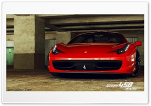 Ferrari 458 Italia 3D Max Ultra HD Wallpaper for 4K UHD Widescreen desktop, tablet & smartphone