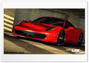 Ferrari 458 Italia 3D Max HD Wide Wallpaper for 4K UHD Widescreen desktop & smartphone