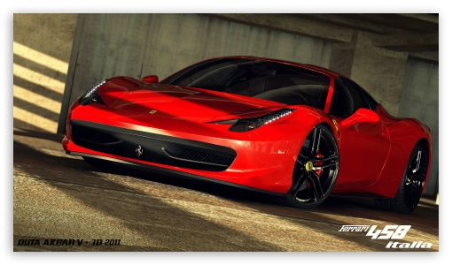 Ferrari 458 Italia 3D Max ❤ 4K UHD Wallpaper for 4K UHD 16:9 Ultra High Definition 2160p 1440p 1080p 900p 720p ; Mobile 16:9 - 2160p 1440p 1080p 900p 720p ;