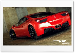 Ferrari 458 Italia 3D Max HD Wide Wallpaper for Widescreen