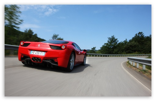Ferrari 458 Italia   Rear View HD wallpaper for Wide 16:10 5:3 Widescreen WHXGA WQXGA WUXGA WXGA WGA ; HD 16:9 High Definition WQHD QWXGA 1080p 900p 720p QHD nHD ; Standard 4:3 5:4 3:2 Fullscreen UXGA XGA SVGA QSXGA SXGA DVGA HVGA HQVGA devices ( Apple PowerBook G4 iPhone 4 3G 3GS iPod Touch ) ; Tablet 1:1 ; iPad 1/2/Mini ; Mobile 4:3 5:3 3:2 16:9 5:4 - UXGA XGA SVGA WGA DVGA HVGA HQVGA devices ( Apple PowerBook G4 iPhone 4 3G 3GS iPod Touch ) WQHD QWXGA 1080p 900p 720p QHD nHD QSXGA SXGA ; Dual 16:10 5:3 5:4 WHXGA WQXGA WUXGA WXGA WGA QSXGA SXGA ;