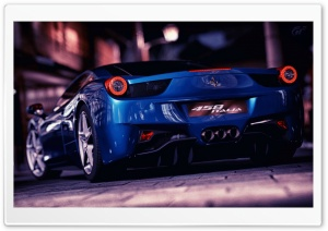 Ferrari 458 Italia Blue HD Wide Wallpaper for Widescreen