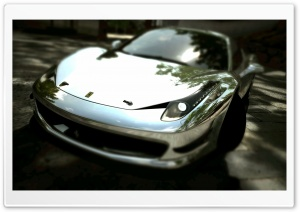 Ferrari 458 Italia Chrome HD Wide Wallpaper for Widescreen