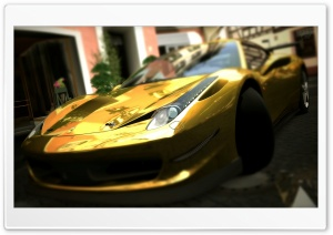 Ferrari 458 Italia Gold HD Wide Wallpaper for Widescreen