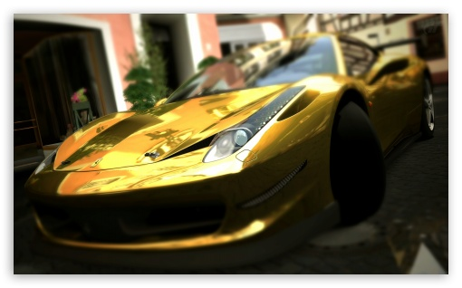 Ferrari 458 Italia Gold HD wallpaper for Wide 5:3 Widescreen WGA ; HD 16:9 High Definition WQHD QWXGA 1080p 900p 720p QHD nHD ; UHD 16:9 WQHD QWXGA 1080p 900p 720p QHD nHD ; Mobile 5:3 16:9 - WGA WQHD QWXGA 1080p 900p 720p QHD nHD ;