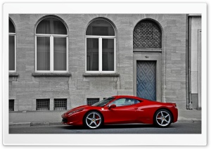 Ferrari 458 Italia Sideways HD Wide Wallpaper for Widescreen