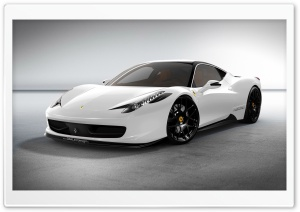Ferrari 458 White Car HD Wide Wallpaper for 4K UHD Widescreen desktop & smartphone