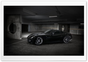 Ferrari 599 Black Sideways HD Wide Wallpaper for Widescreen