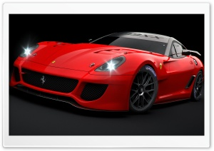 Ferrari 599XX Red HD Wide Wallpaper for Widescreen