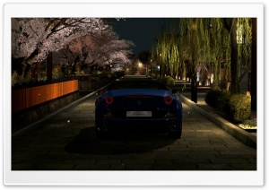 Ferrari California GT5 in Kyoto Gion HD Wide Wallpaper for Widescreen