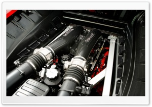 Ferrari Engine HD Wide Wallpaper for Widescreen