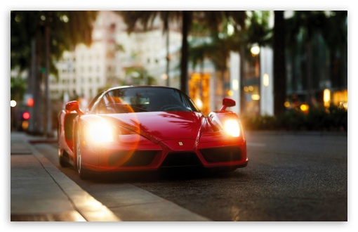 Download Ferrari Enzo Red HD Wallpaper