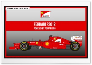Ferrari F2012 HD Wide Wallpaper for Widescreen
