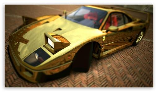 Ferrari F40 Gold HD wallpaper for HD 16:9 High Definition WQHD QWXGA 1080p 900p 720p QHD nHD ; UHD 16:9 WQHD QWXGA 1080p 900p 720p QHD nHD ; Mobile 16:9 - WQHD QWXGA 1080p 900p 720p QHD nHD ;