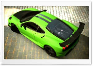 Ferrari F430 Scuderia Matte Green GT5 HD Wide Wallpaper for Widescreen