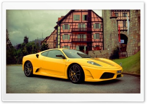 Ferrari F430 Scuderia Yellow HD Wide Wallpaper for Widescreen
