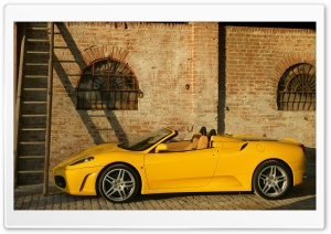 Ferrari F430 Spider Yellow HD Wide Wallpaper for Widescreen