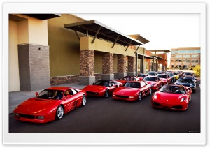 Ferrari Group HD Wide Wallpaper for Widescreen