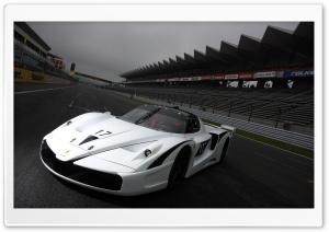 Ferrari Racing Car 3D HD Wide Wallpaper for Widescreen