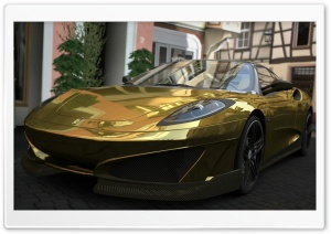 Ferrari SP1 - GOLD HD Wide Wallpaper for Widescreen