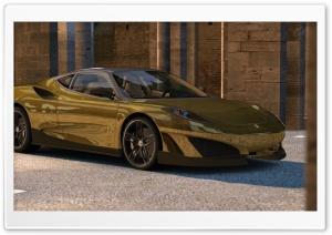 Ferrari SP1 - GOLD Ultra HD Wallpaper for 4K UHD Widescreen desktop, tablet & smartphone