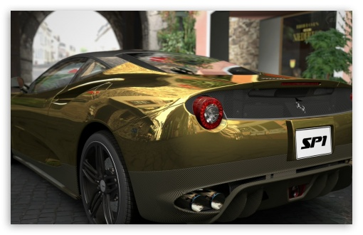 Ferrari SP1 - GOLD HD wallpaper for Wide 16:10 5:3 Widescreen WHXGA WQXGA WUXGA WXGA WGA ; HD 16:9 High Definition WQHD QWXGA 1080p 900p 720p QHD nHD ; Standard 3:2 Fullscreen DVGA HVGA HQVGA devices ( Apple PowerBook G4 iPhone 4 3G 3GS iPod Touch ) ; Tablet 1:1 ; iPad 1/2/Mini ; Mobile 4:3 5:3 3:2 16:9 - UXGA XGA SVGA WGA DVGA HVGA HQVGA devices ( Apple PowerBook G4 iPhone 4 3G 3GS iPod Touch ) WQHD QWXGA 1080p 900p 720p QHD nHD ;