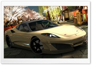Ferrari SP1 Light Gold HD Wide Wallpaper for Widescreen
