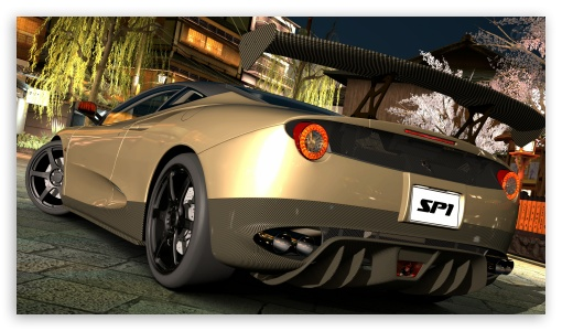 Ferrari SP1 Light Gold HD wallpaper for HD 16:9 High Definition WQHD QWXGA 1080p 900p 720p QHD nHD ; UHD 16:9 WQHD QWXGA 1080p 900p 720p QHD nHD ; Mobile 16:9 - WQHD QWXGA 1080p 900p 720p QHD nHD ;