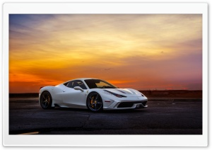 Ferrari White Ultra HD Wallpaper for 4K UHD Widescreen desktop, tablet & smartphone