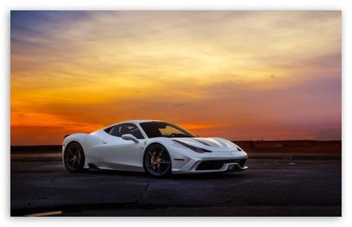 Download Ferrari White UltraHD Wallpaper