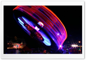 Ferris Wheel At Night HD Wide Wallpaper for Widescreen