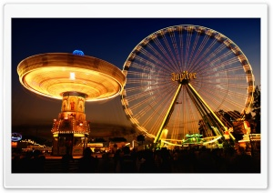 Ferris Wheel HDR Ultra HD Wallpaper for 4K UHD Widescreen desktop, tablet & smartphone