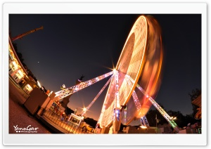 Ferris Wheel in Bordeaux, France HD Wide Wallpaper for Widescreen