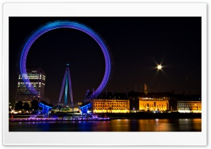 Ferris Wheel In London HD Wide Wallpaper for 4K UHD Widescreen desktop & smartphone