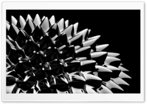 Ferrofluid Black And White HD Wide Wallpaper for Widescreen