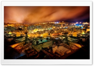 Fes in the Night HD Wide Wallpaper for Widescreen