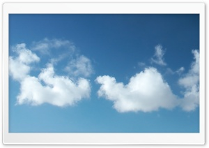 Few Clouds Sky HD Wide Wallpaper for Widescreen