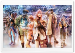 FFXIII Group on Nautilus HD Wide Wallpaper for Widescreen