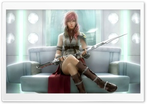 FFXIII Lightning in Orphans Cradle HD Wide Wallpaper for Widescreen