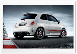 Fiat 500 Abarth Rear HD Wide Wallpaper for Widescreen