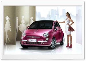 Fiat 500 Barbie HD Wide Wallpaper for Widescreen