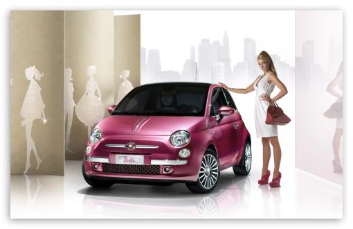 Fiat 500 Barbie 2009 UltraHD Wallpaper for Wide 16:10 Widescreen WHXGA WQXGA WUXGA WXGA ;