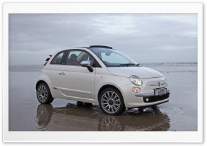 Fiat 500 Convertible HD Wide Wallpaper for Widescreen