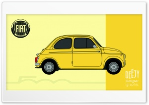 Fiat 500 poster-Jessy Descarpentrie Ultra HD Wallpaper for 4K UHD Widescreen desktop, tablet & smartphone