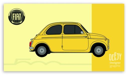 Fiat 500 poster-Jessy Descarpentrie UltraHD Wallpaper for 8K UHD TV 16:9 Ultra High Definition 2160p 1440p 1080p 900p 720p ; Mobile 16:9 - 2160p 1440p 1080p 900p 720p ;