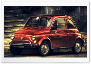 Fiat 500 Vintage HDR HD Wide Wallpaper for Widescreen