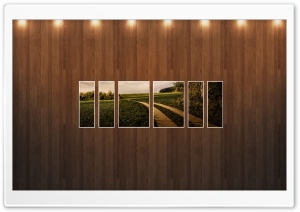 Field Path Picture   Wood Wall HD Wide Wallpaper for Widescreen